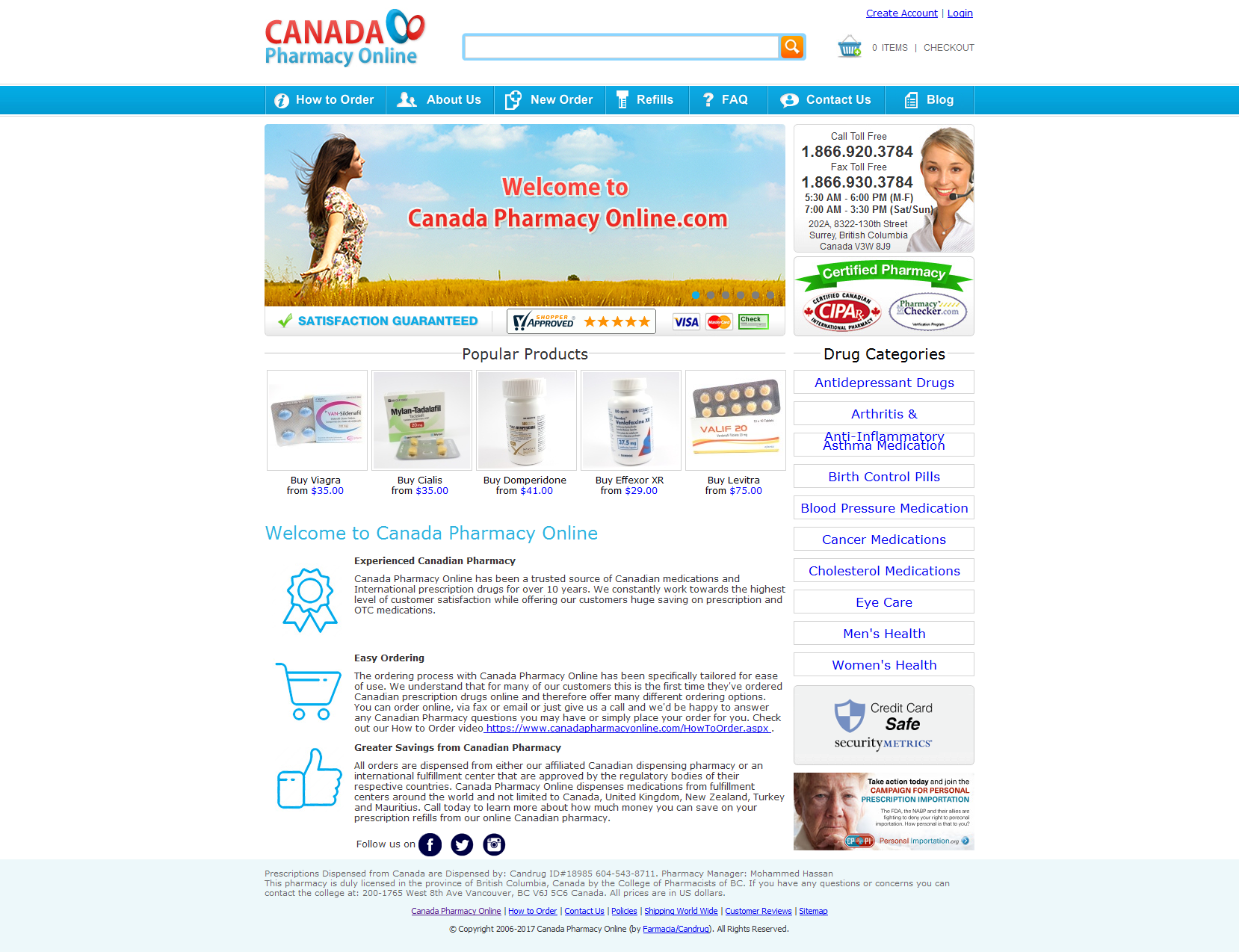 is canadian online pharmacy legitimate definition lawfulness